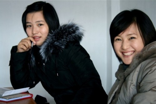 Students from the Pyongyang University of Cinematic and Dramatic Arts